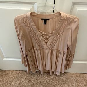 Forever 21 - babydoll long sleeve top